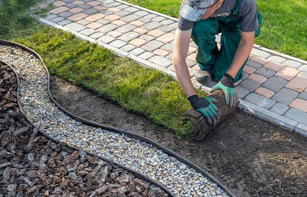 Homem mexendo com jardinagem